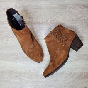Franco Fortini Western Style Zip Up Ankle Booties